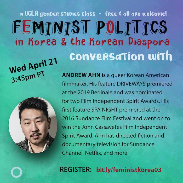 Andrew Ahn, April 21