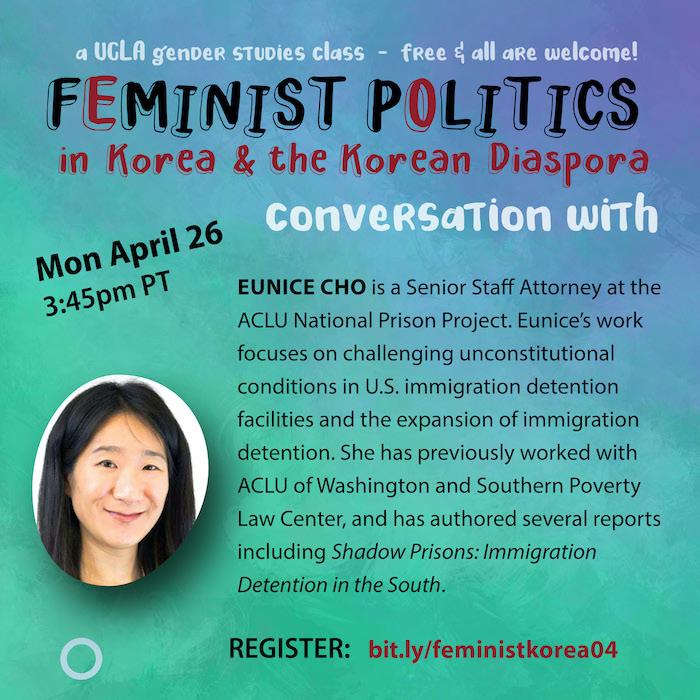 Eunice Cho, April 26