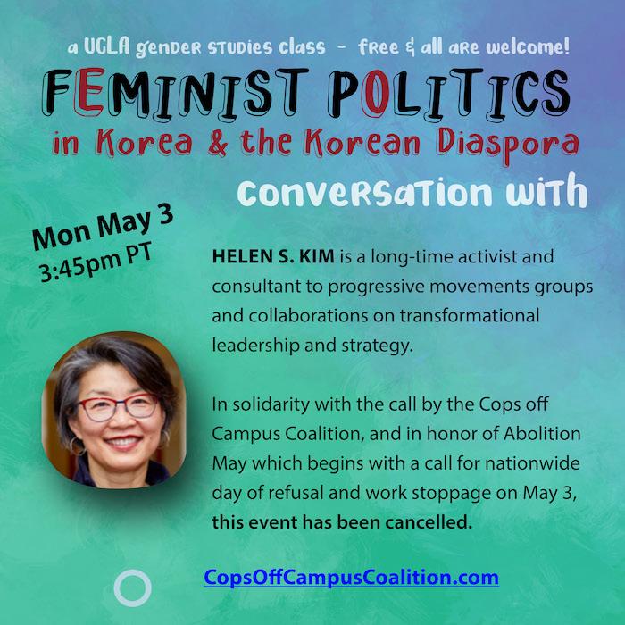 Helen S. Kim, May 3